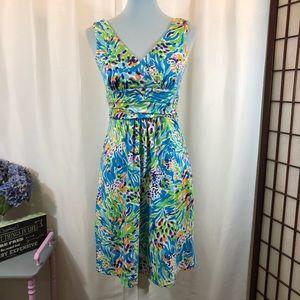 Lilly Pulitzer Dress 539 V-Neck Wrap Bust, Size M
